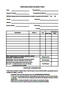 Sle Purchase Order Form Template by Purchase Order Template Free Edit Fill Create