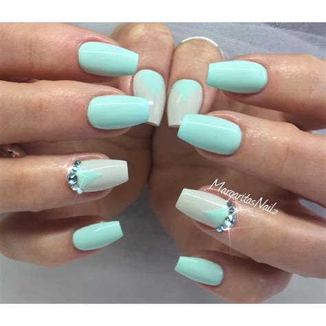 mint color nails best 25 mint green nails ideas on