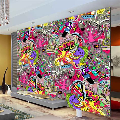 graffiti bedroom wall aliexpress com buy graffiti boys urban art wallpaper 3d