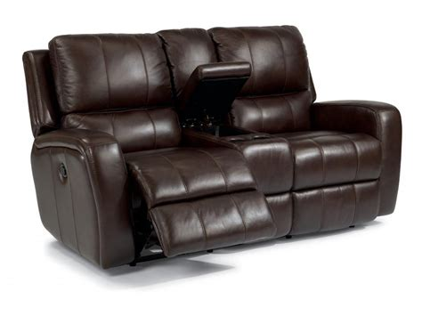 Leather Reclining Loveseat by Flexsteel Leather Power Reclining Loveseat With Console