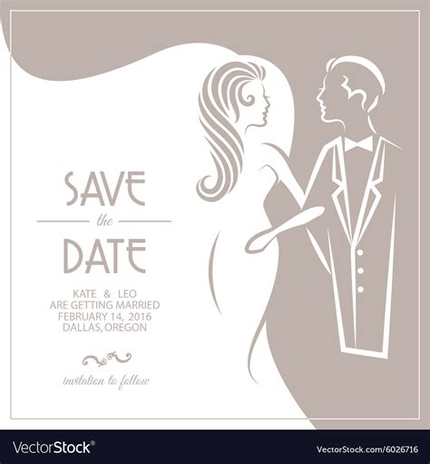Wedding Invitation Card Groom by And Groom Wedding Invitations Vector Picture Ideas