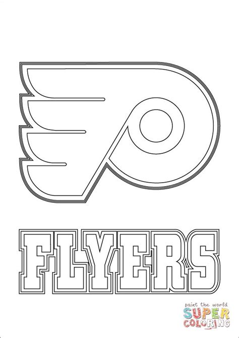 hockey coloring pages oilers philadelphia flyers logo coloring page supercoloring com