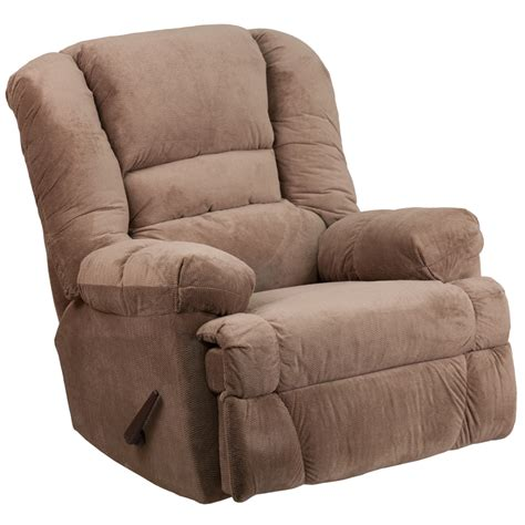 oversized microfiber recliner contemporary dynasty camel microfiber rocker recliner