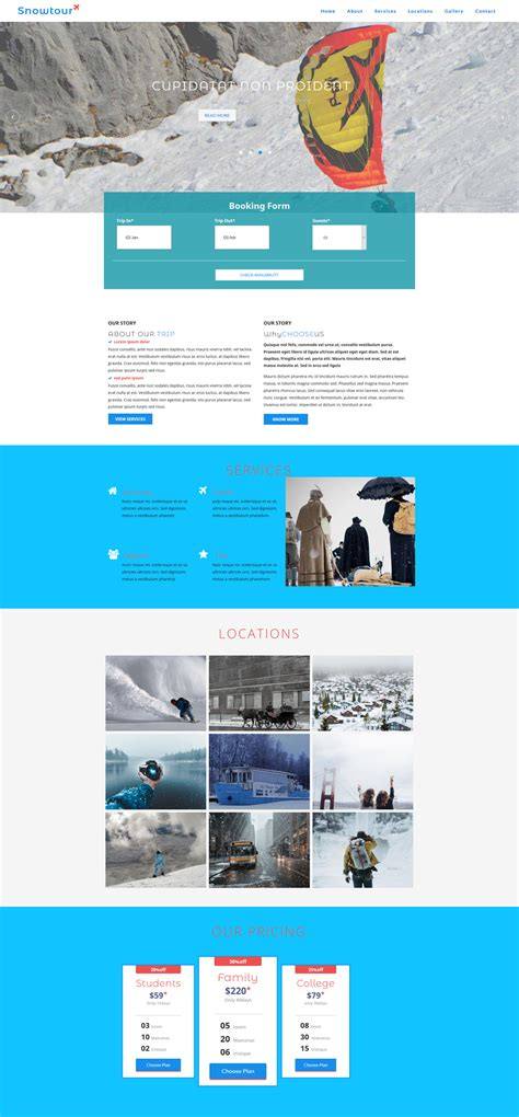 15 Best Free Travel Templates And Themes Web Theme Templates