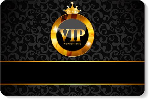 vip card template vector vip membership card free vector 12 425
