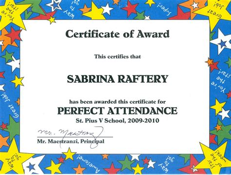 100 attendance certificate template attendance certificate template sle of graph paper