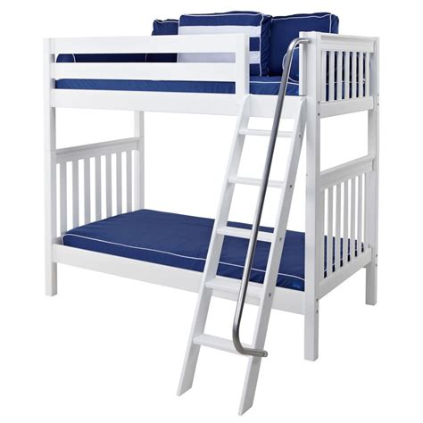 White Bunk Bed Ladder Venti Bunk Bed In White With Angled Ladder By Maxtrix 780 0