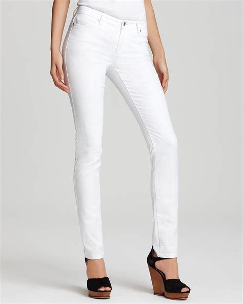 MICHAEL Michael Kors Slim Jeans in White   Bloomingdale's