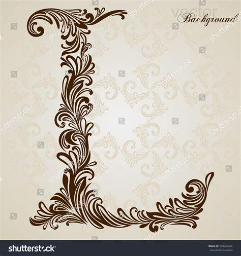 font design l calligraphic font vintage initials letter l stock vector