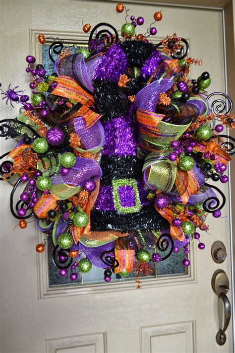halloween wreath kristen s creations halloween mesh wreath