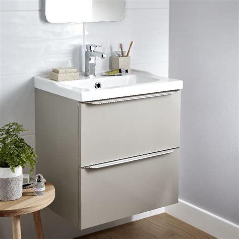 cooke lewis imandra gloss taupe vanity basin unit wmm en  blissful bathrooms bathroom bathroom vanity units  bathroom sink cabinets
