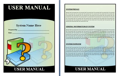 user manual template for software free manual templates user manuals manuals