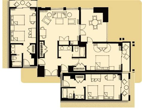 disneyland hotel 2 bedroom suite layout please tell me about the 3 bdrm suite at the grand cal