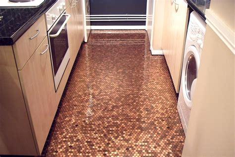 bathroom floor pennies penny floor