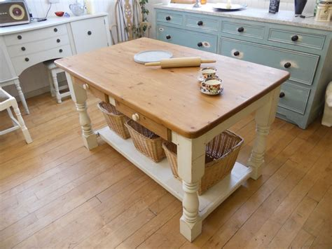 kitchen island farm table shabby chic painted farmhouse country kitchen island