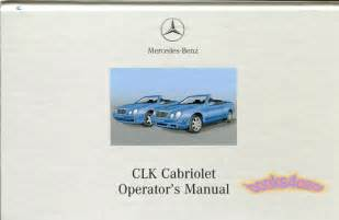 owners manual book handbook 2001 mercedes clk320 clk430