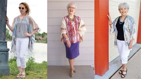 spring oufits for 60 year olds kimono jackets as a summer fashion trend for women over 60
