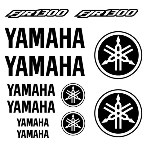Aufkleber Yamaha Fjr 1300 by Kit Stickers Yamaha Fjr 1300