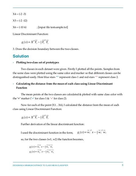 pattern recognition homework solution pattern recognition designing a minimum distance class