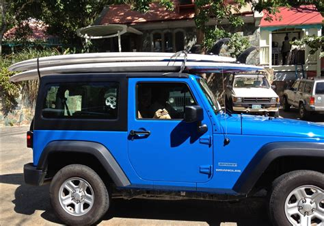 Paddle Board On Jeep Wrangler Sup Rental And Arawak Expeditions
