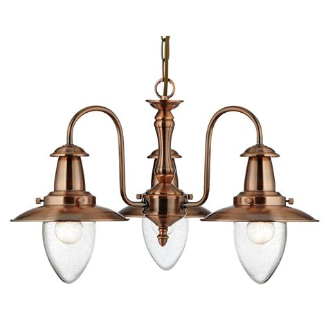 searchlight 5333 3co fisherman 3 light copper ceiling light