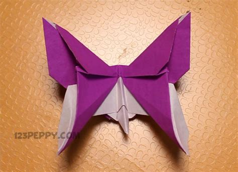 Origami Crafts Ideas - how to make origami butterfly 123peppy