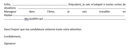Exemple De Lettre De Motivation Sous Word Comment R 233 Diger Une Bonne Lettre De Motivation Sous Word