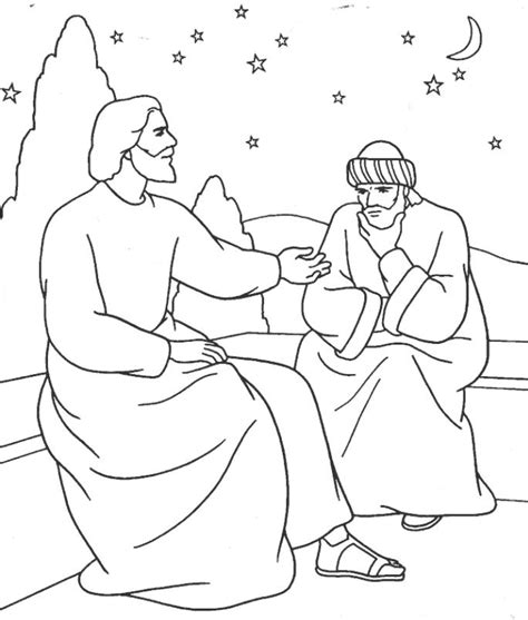 coloring page jesus and nicodemus jesus and nicodemus coloring page az coloring pages