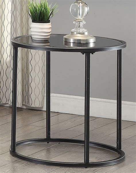 Black Glass Top End Table Coffee And Cocktail Tables
