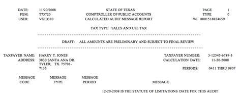 Letter To Credit Bureau Statute Of Limitations Auditing Fundamentals