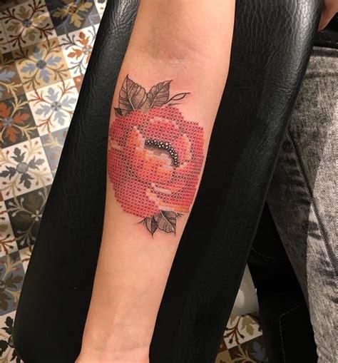 tattooed cross stitch man cross stitch tattoo best tattoo ideas gallery