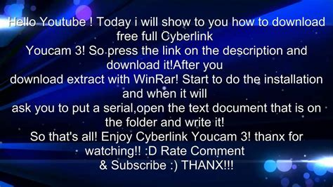 youcam full version free download 3 how to download free full cyberlink youcam 3 youtube