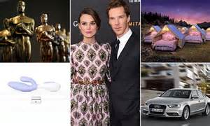 Whats In The Mtv Awards Goodie Bags by Inside The Oscars Goodie Bags Worth 125 000 Daily Mail