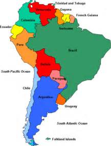 political south america map south america political map