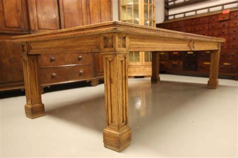 impressive antique oak dining table seats 12 antiques