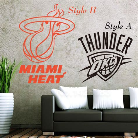 cheap wall stickers for rooms new design home decoration vinyl basketball club logo wall stickers colorful cheap nba sports