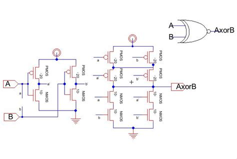 xor layout diagram lab