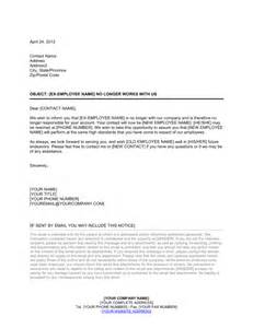 Customer Handover Letter Customer Letter For Departed Employee Template Sle Form Biztree