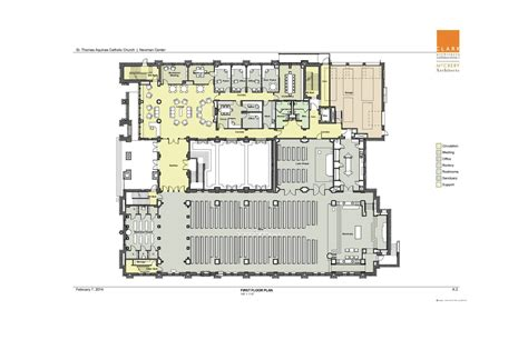 catholic church floor plans saint thomas aquinas catholic church newman center