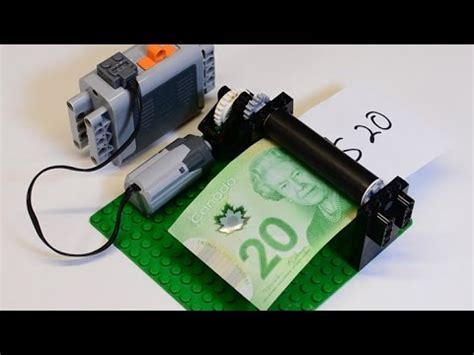 lego printer tutorial how to build a lego money printer motor operated lego