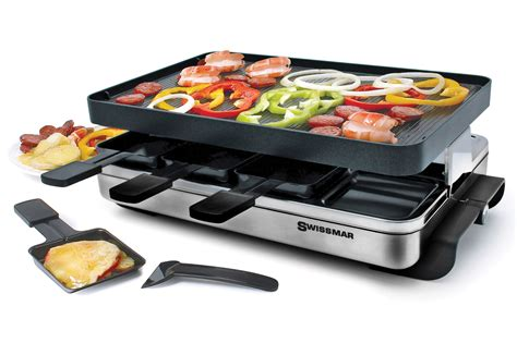 Mac Kitchen Knives Swissmar Stelvio Stainless Steel Raclette Grill 8 Person