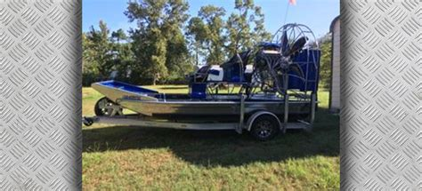 airboats for sale preowned 2016 alumitech for sale
