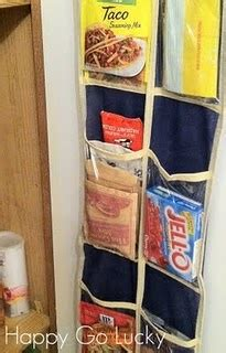 Narrow Pantry Door Organizer by Use A Hanging Shoe Organizer To Store Smaller Pantry Items