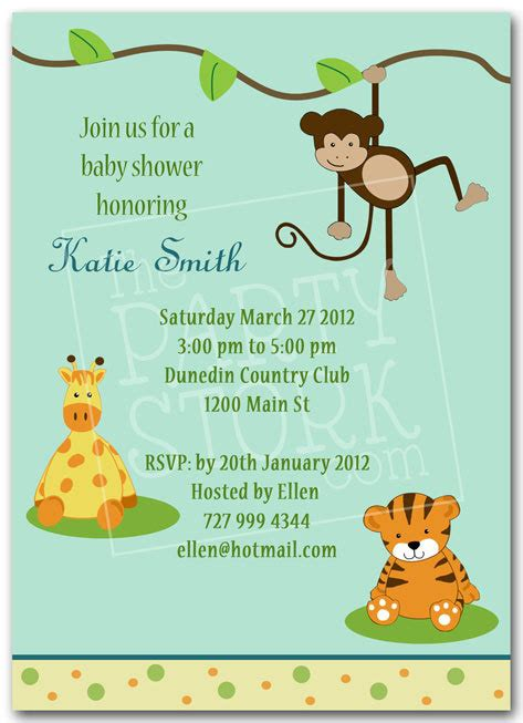 Free Printable Jungle Baby Shower Invitations Theruntime Com Safari Invitation Template Free
