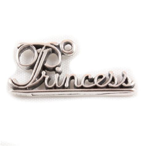 charm school uk gt sterling silver charms gt princess word charm