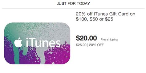 Itunes Gift Card Email Delivery Paypal - itunes gift cards w email delivery 20 off from paypal 9to5toys