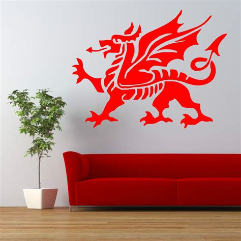 vinyl wall stickers welsh dragon flag vinyl wall art sticker decal ebay