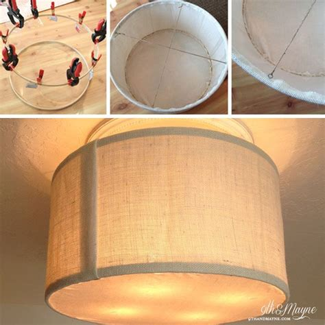 Ceiling Light Shade Diy 1000 Ideas About Drum Shade On Pinterest Table Ls Ls And Wall Sconces