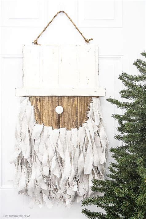Front Door Hanging Decor Rustic Santa Door Hanger Door Decoration