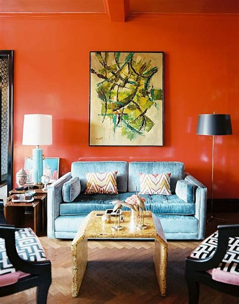 burnt orange living room walls decorating with orange how to incorporate a risky color tastefully